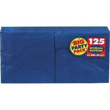 Amscan Big Party Pack Bright Royal Blue Beverage Napkins