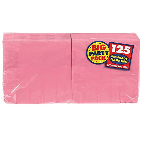 Amscan Big Party Pack New Pink Beverage Napkins