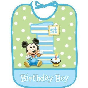Mickey 1st Birthday Baby Bib