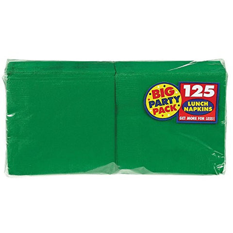 Amscan Big Party Pack Green Luncheon Napkins