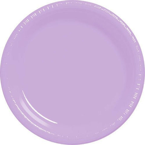 Amscan Big Party Pack Lavender Plastic Lunch Plates