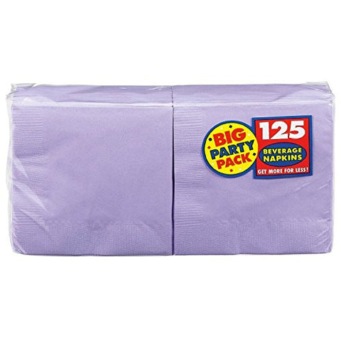 Amscan Big Party Pack Lavender Beverage Napkins