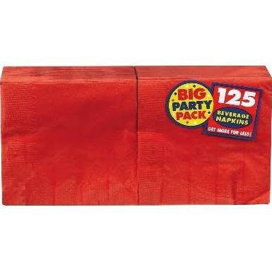 Amscan Big Party Pack Red Beverage Napkins