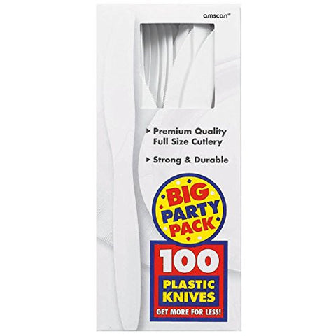 Amscan Big Party Pack White Plastic Knives