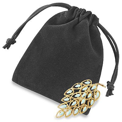 "3 x 4"" Black Velvet Pouches Velvet Velour Drawstring Jewelry Bags Pouches- 12 count"