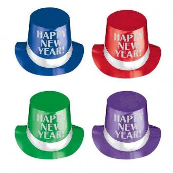 Happy New Year Top Hats - Jewel Tone