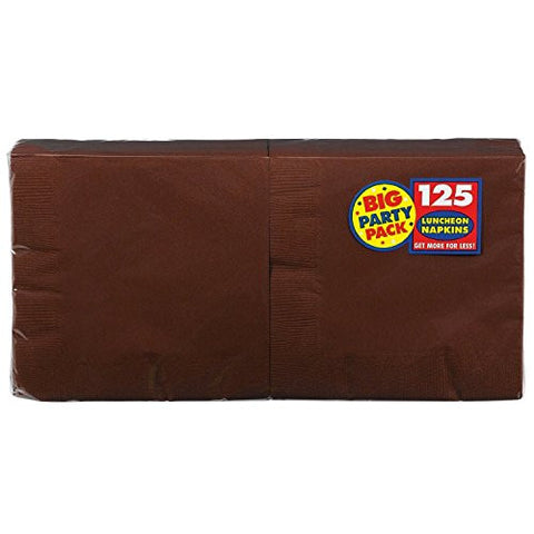Amscan Big Party Pack Brown Luncheon Napkins