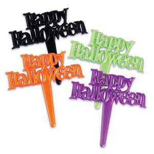 HAPPY HALLOWEEN PEARLIZED PICKS / 144 pcs