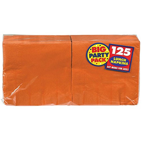 Amscan Big Party Pack Orange Luncheon Napkins