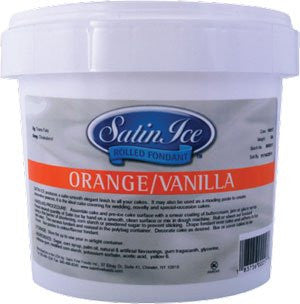 Orange Satin Ice Fondant- 5 Lb.Tub