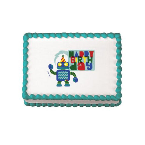 Birthday Bot Edible Image Designs