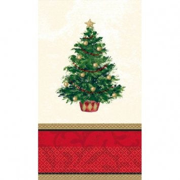 Classic Christmas Tree Guest Towel