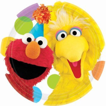 Elmo & Big Bird Dessert Plate