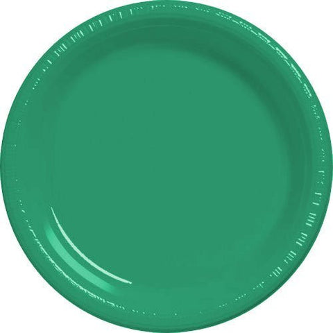 Amscan Big Party Pack Green Plastic Dessert Plates
