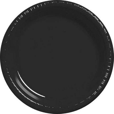 Amscan Big Party Pack Black Plastic Dessert Plates