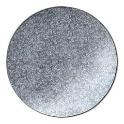 "Quick Pick Up 12"" Round Silver Cake Drum Single"