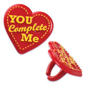 VALENTINES DAY YOU COMPLETE ME RING / 144 pcs