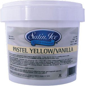 Pastel Yellow Satin Ice Fondant- 5 Lb.Tub