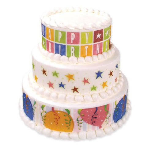 Birthday Star Var Designer Prints Edible Image Designs