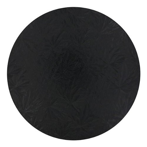 "10"" Round Black Cake Drum Single"