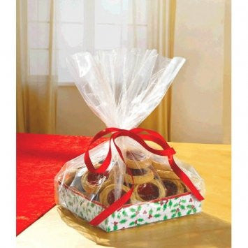Small Holly Treat Tray w/ Cello Bag