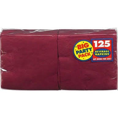 Amscan Big Party Pack Berry Beverage Napkins