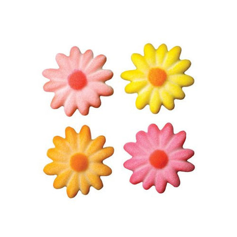 Daisies Med Bright Asst Dec-Ons? Sugar Decorations (43676)
