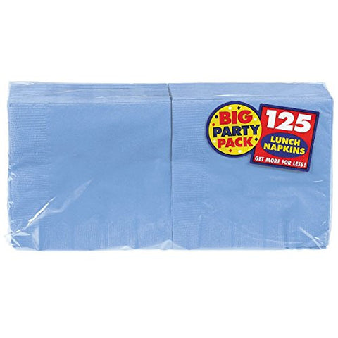 Amscan Big Party Pack Pastel Blue Luncheon Napkins