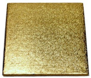 "Quick Pick Up 10"" Gold Square Cake Drum"