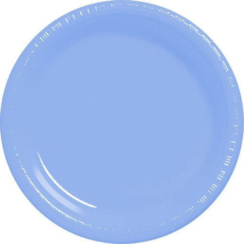 Amscan Big Party Pack Pastel Blue Plastic Lunch Plates