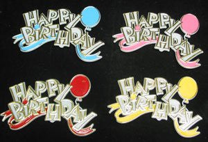 Happy Birthday Balloon Plaque Assortment - 48 Count