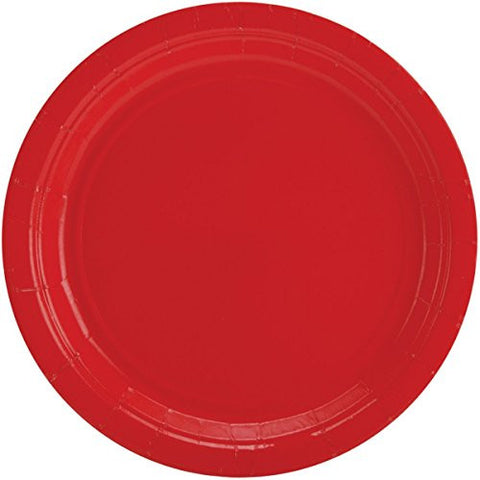 Amscan Big Party Pack Red Paper Dinner Plates