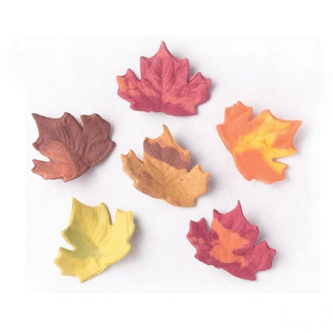 Fall Assortment Hand Molded Sugar Leaves
