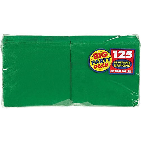 Amscan Big Party Pack Green Beverage Napkins