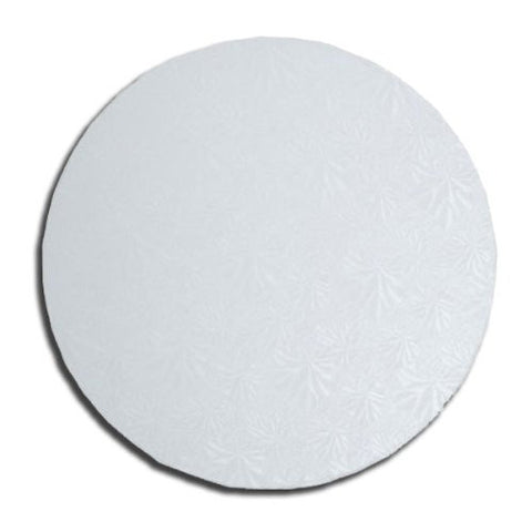 "Quick Pick Up 16"" Round White Cake Drum Single"