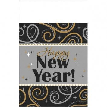 Sparkling New Year Plastic Table Cover