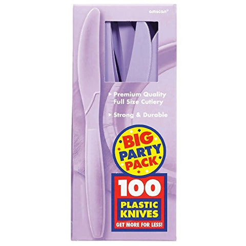 Amscan Big Party Pack Lavender Plastic Knives