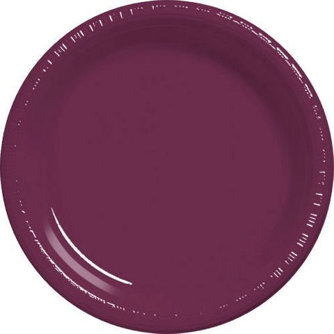 Amscan Big Party Pack Berry Plastic Lunch Plates