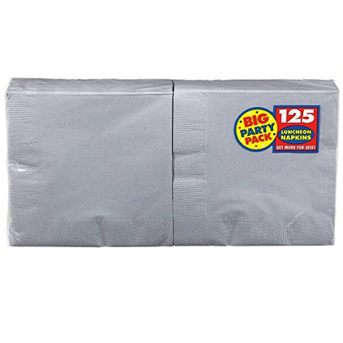 Amscan Big Party Pack Silver Luncheon Napkins
