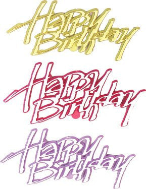 "Snappy ""Happy Birthday"" Script - 72 Count"