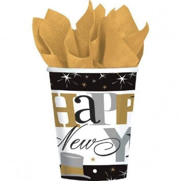 Happy New Year Elegant Celebration Paper Cups