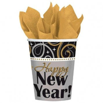 Sparkling New Year Paper Cups