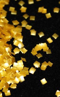 Edible Glitter Squares Gold