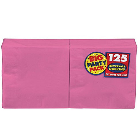 Amscan Big Party Pack Bright Pink Luncheon Napkins