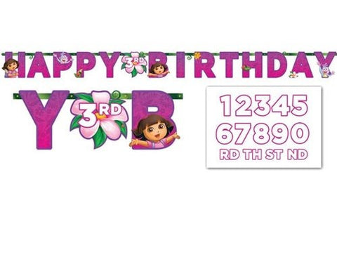 Dora's Flower Adventure Jumbo Add A Number Banner