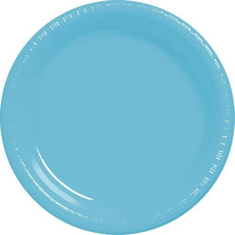 Amscan Big Party Pack Caribbean Blue Plastic Lunch Plates