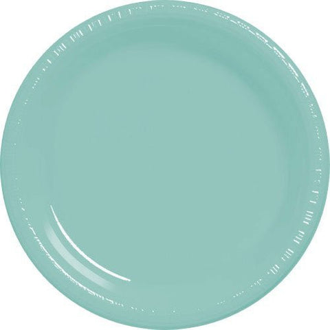 Amscan Big Party Pack Robin's Egg Blue Plastic Dessert Plates