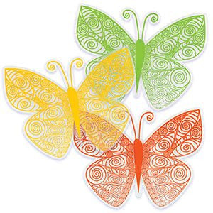 BUTTERFLY QUILLING ADORNMENTS
