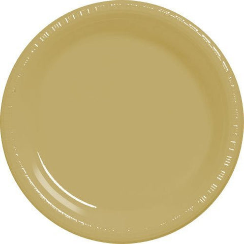 Amscan Big Party Pack Gold Plastic Dessert Plates