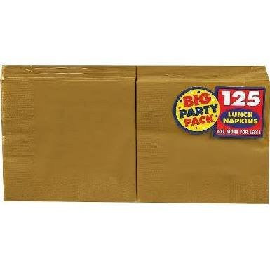 Amscan Big Party Pack Gold Luncheon Napkins